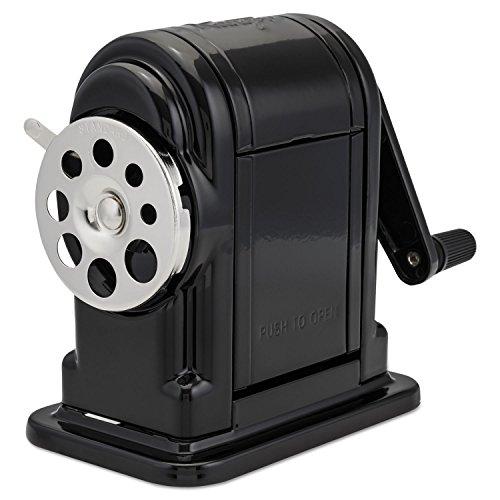 Elmer's Ranger 55 Table-Mount or Wall-Mount Pencil Sharpener - Desktop - 8 Hole(s) - Metal - Black