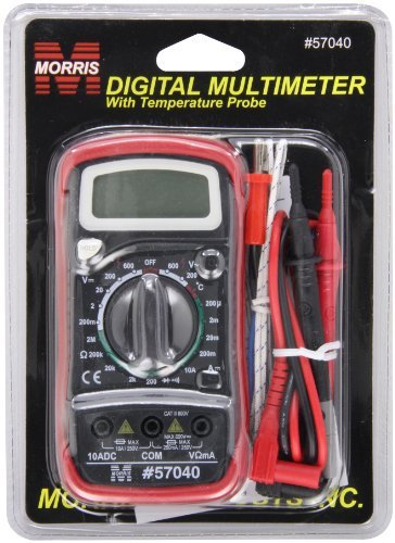 Morris Products 57040 Digital Multimeter with Rubber Holster & Temperature Probe by Morris Products