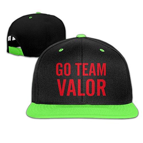 Price comparison product image VYily Boys Girls Go Team Valor Red-PokeGO Hip Hop Baseball Caps KellyGreen