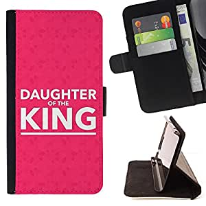 BullDog Case - FOR/Samsung Galaxy S3 III I9300 / - / DAUGTHER OF THE KING /- Monedero de cuero de la PU Llevar cubierta de la caja con el ID Credit Card Slots Flip funda de cuer
