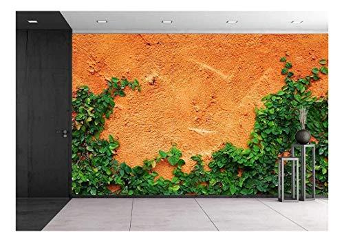 wall26 - Green Creeper Plant Background - Canvas Art Wall Mural Decor - 66