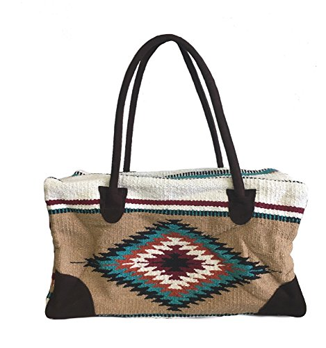 Weekender Travel Bag Fully Lined Suede Handles Southwest Design B by AJ Tack Wholesale
