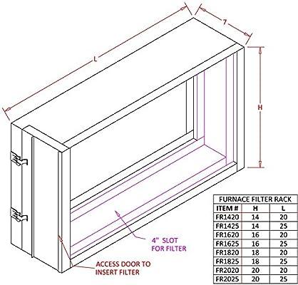BLG2-1625-3 Furnace Filter Rack 16x25