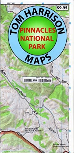 Pinnacles National Monument Trails Map Tom Harrison Maps Tom