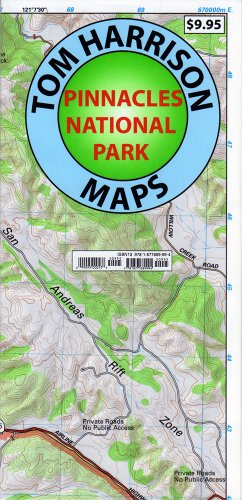 Pinnacles National Monument Trails Map (Tom Harrison Maps)