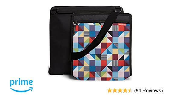 Grey Feather Skip Hop On-The-Go Central Park Outdoor Blanket and Cooler Bag