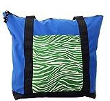 Lunarable Green Shoulder Bag, Wildlife Africa Safari Animal, Durable with Zipper