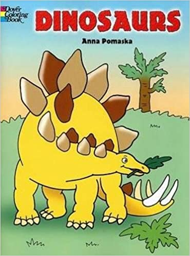 Coloring Books For Adults Dinosaurs : Dinosaurs dover coloring books : anna pomaska: 9780486447018