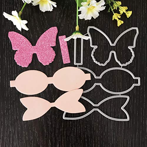 WWahuayuan 1 Set Tie Bow Cutting Dies Stencils Frame Die Cuts Metal Template Mould DIY Scrapbook Card Making Decoration Tool Gift Photo Album Embossing Scrapbooking Paper Card Decor Craft