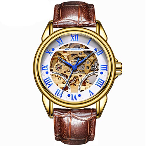 MmNote Water Resistant Leather Strap Watch Automatic Mechanical Men Watch (Functions Of The Press In The Society)