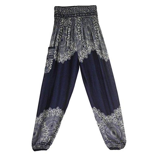 Blu Hosen Donna Scuro Pantaloni Damen SANFASHION Zw8Ia