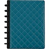 Staples Arc Customizable Patent Leather Notebook System, Teal Quilted, 9 1/2' x 11 1/2', Each (24742)