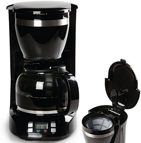 Cafetera automática, 1,5 L, 24h temporizador, para de café recién ...