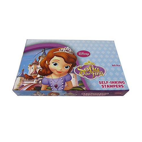 New! (60ct) Disney Sofia the First Princess Stamps Stampers Self-inking Party Favors- Full Box!