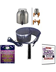 KKamp Continuous Brew Kombucha BREWER ONLY Stainless Steel W Wood Stand Essential Heat Strip