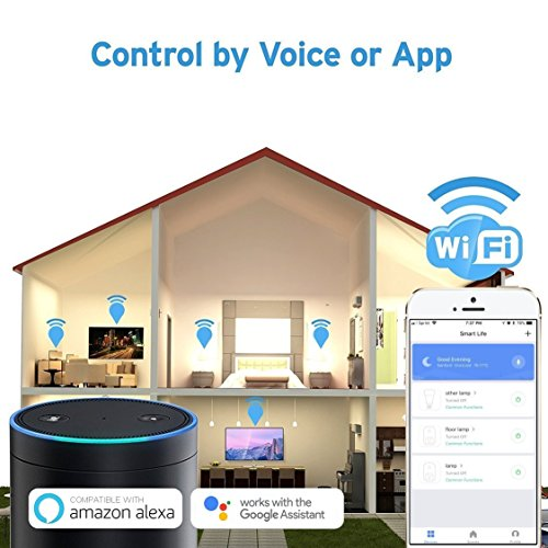 TWB Smart Wi-Fi Smart Plug, Compatible with Alexa and Works with Google Home. Smart Home Electrical Outlet Timer Compatible with Amazon Echo Dot Accessories. For Home Automation (2-Pack) by TWB Smart (Image #3)