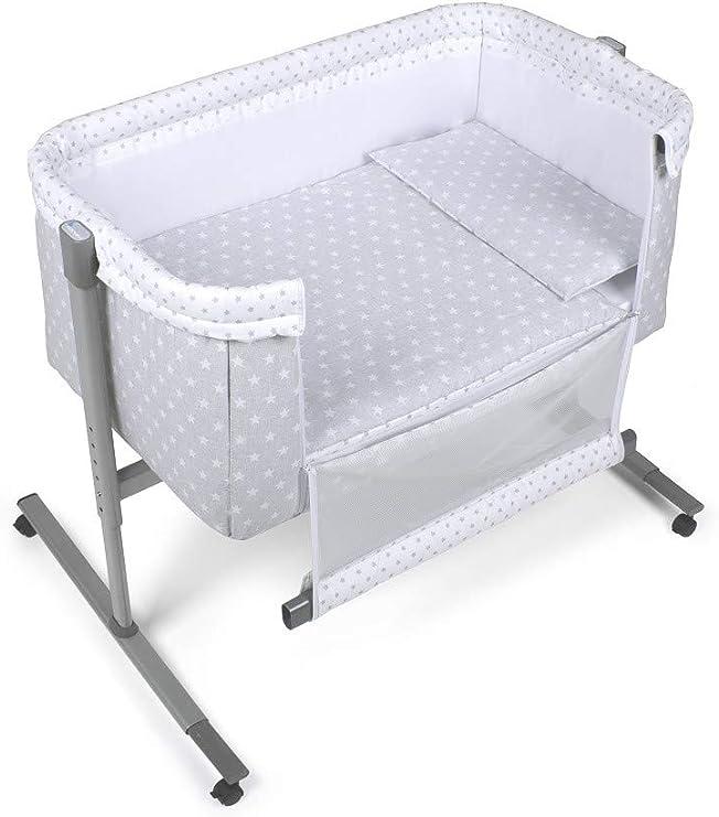 VARIOS COLORES) Minicuna Colecho Universal Adosada Aluminio Agua Marina Gris - mibebestore: Amazon.es: Bebé