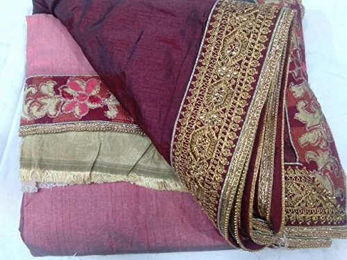 526 indiano Seta Matrimonio tradizionale abito donna etnico imp sposa da Saree pqz5wzTW6x