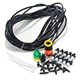 Williant DIY 32FT 10 Nozzles Misting System Kit Water Mister Air Misting Cooling System Kit for Greenhouse Lawn Garden Outdoor Patio