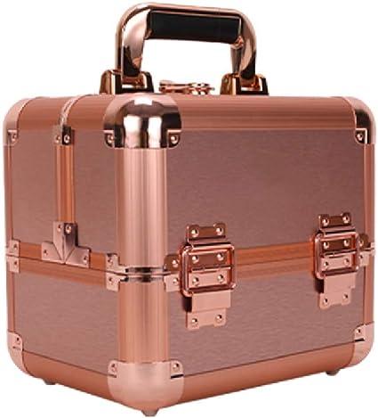 Estuche cosmético de viaje Organizadores cosméticos grandes, Maquillaje de uñas Estuche cosmético de tocador para joyas, con llave con llave, Impermeable,Pink: Amazon.es: Belleza