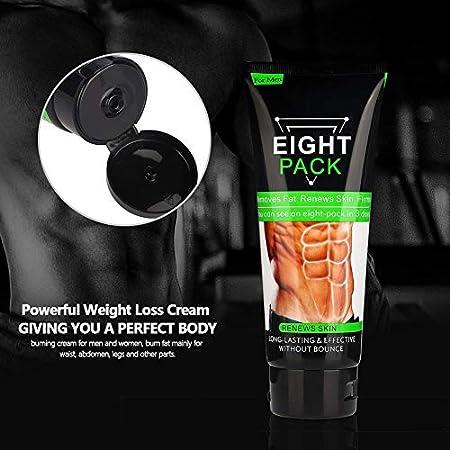 Crema Reductora, Crema Reafirmante, Crema Esencial Muscular, Crema Reductora de Grasa Muscular Más Fuerte para Hombres, Anti-celulitis Quemar Grasa para Hombres