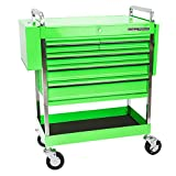 Professional Service Cart - 5 Drawer and 1 Tray (Green)
