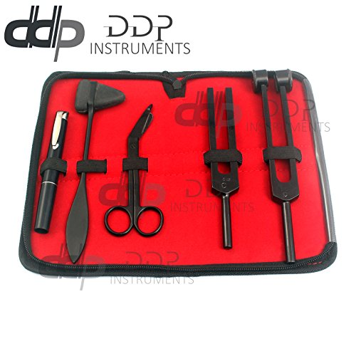 DDP All Black Reflex Percussion Taylor Hammer Penlight Tuning Fork Bandage Scissors by DDP