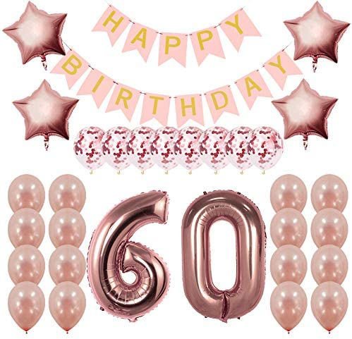 Rose Gold 21st Birthday Decorations Party Supplies Gifts For Her Create Unique Events With Happy Birthday Banner 21 Number And Confetti Balloons Buy Online In India At Desertcart