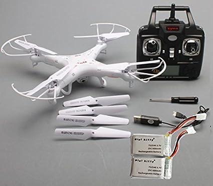 Syma Nueva Versión Syma X5C-1 2.4G 6 Eje GYRO Cámara de alta definición Cuadricóptero RC RTF Helicóptero de Radiocontrol con 2.0MP Cámara + 2 unidades Mini Kitty Batería: Amazon.es: Informática