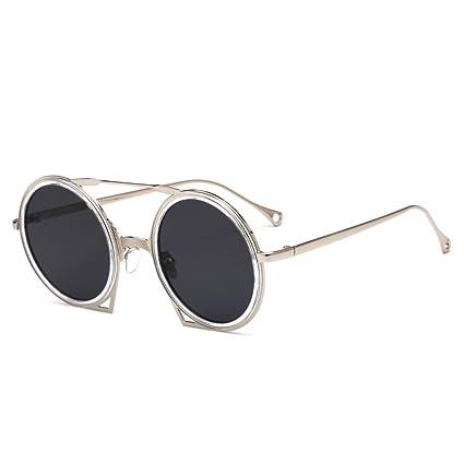 BiuTeFang Gafas de Sol Mujer Hombre Polarizadas Gafas de señora Retro Gafas de Sol Redondas Hombres