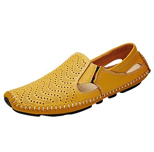 Pantofola Sabot YiLianDa Uomo Spiaggia Giallo Sandali Classic xOxwPXqU7
