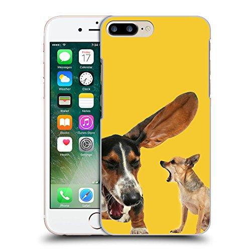 GoGoMobile Coque de Protection TPU Silicone Case pour // Q05600611 Basset chihuahua giallo banana // Apple iPhone 7 PLUS
