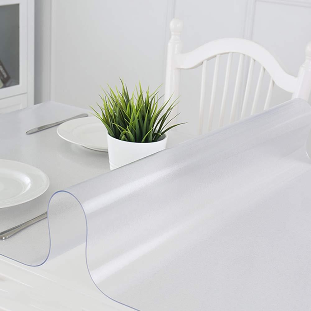 B 601201.5 Nappe rectangulaire Transparente,Nappe imperméable et résistant à l'huile de PVC de ménage,Facile à Nettoyer Tapis de Table en Tissu de Table