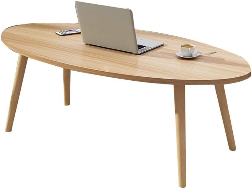 Perfect Furniture Home Desk, Oval Wooden Coffee Table Easy Assembly for Coffee Laptop Dining Table Garden Living Room Decoration Flower Stand (Color : D)