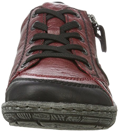 Remonte Damen D3808 Sneaker Rot (schwarz/wine / 35)