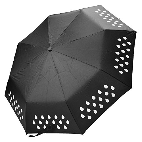 Colour Change Umbrella, aPerfectLife Color Changing Windproof Compact Travel Umbrella - Waterproof,Sturdy, Portable and Lightweight for Easy (Colour Changing Umbrella)