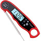 red meat thermometer - Meat Thermometer - Fubosi Digital Meat Thermometer Instant Read Food Thermometer with Calibration and Backlight Functions, Digital Cooking Thermometer for Grilling BBQ Water Milk Tea Bathing(for Baby)
