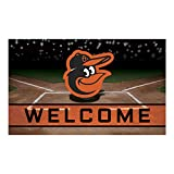 FANMATS 21911 Team Color Crumb Rubber Baltimore Orioles Door Mat, 1 Pack