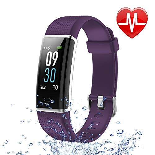 Letsfit Fitness Tracker Color Screen HR, Activity Tracker with Heart Rate Monitor Watch, IP68 Waterproof Step Counter Calorie Counter Sleep Monitor, Pedometer Smart Sport Watch for Kids Women Men