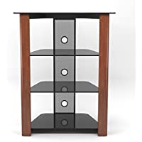 Gibson Living Ashton Multi-Level Component Stand in Wood Cherry