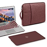GMYLE 3 in 1 Bundle Burgundy Red Set Soft-Touch Matte Plastic Hard Case for Macbook Air 13 inch (A1369/A1466) Water Repellent Laptop Sleeve with Handle and Pocket and with Silicon Keyboard Cover