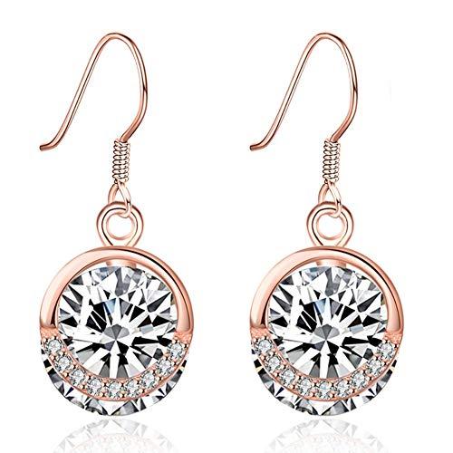 (Women Girls Earrings Classic 925 Sterling Silver Charms Pearl Dangle Earrings for Sensitive Ears )
