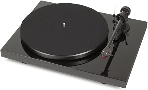 Pro-Ject Debut Carbon DC Turntable with Ortofon 2M Red Cartridge Piano Black