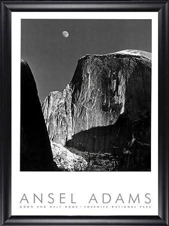 Amazon.com: Moon and Half Dome Yosemite Ansel Adams 24x40 Gallery ...