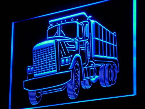 (Dump Truck Car Bar Gift LED Sign Night Light i937-b(c))