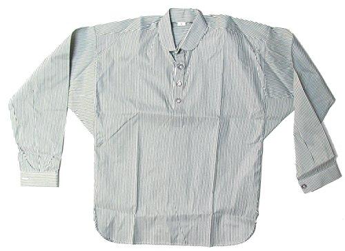 Military Uniform Supply Reproduction Men's Striped Civil War Shirt - Green - 2XL