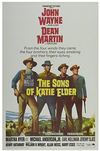Old Tin Sign Movie Posters Sons Of Katie Elder With John Wayne