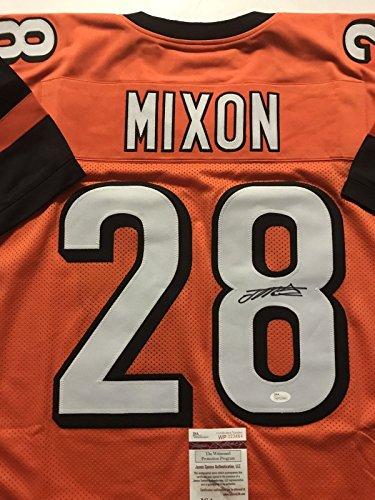 Autographed/Signed Joe Mixon Cincinnati Orange Football Jersey JSA COA Cincinnati Bengals Autographed Jerseys