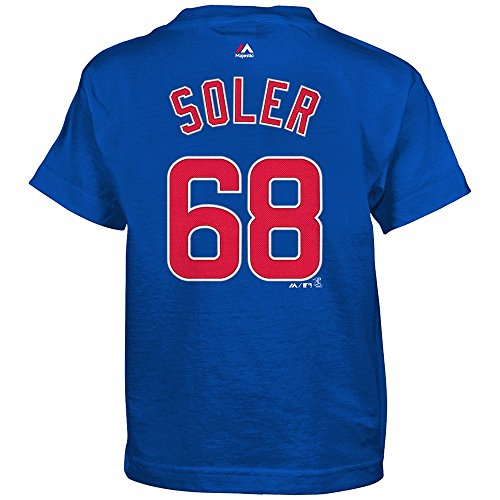 Player Mlb Name Mens Number (Majestic Athletic Jorge Soler Chicago Cubs #68 MLB Kids Sizes 4-7 Name & Number Player T-shirt (Kids Medium 5/6))