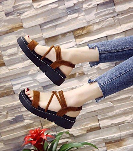Pantofole 35 Piatto European Europeo All'Aperto Codice Fondo Con Brown 37 Scivolo Code Lady A D'Estate Verde BTBTAV The qva08wgq